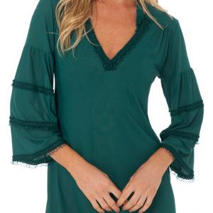 Grünes Strandkleid texturiert - DESPI - Ruffle Tunic Amazon