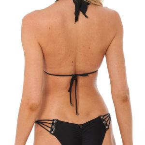 Sexy Scrunch Bikini mit Leder und Nieten