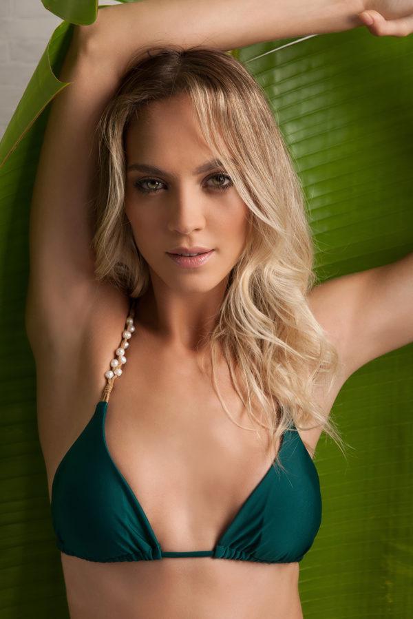 Sexy grüner Bikini mit Perlen - DESPI