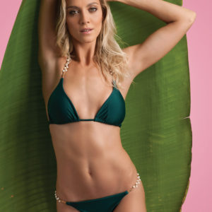Sexy Bikini grün mit Perlen - BBS
