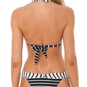 Schwarz weiß gestreifter sexy Bikini