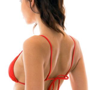 Sexy rotes Bikini Oberteil mit geraden Trägern