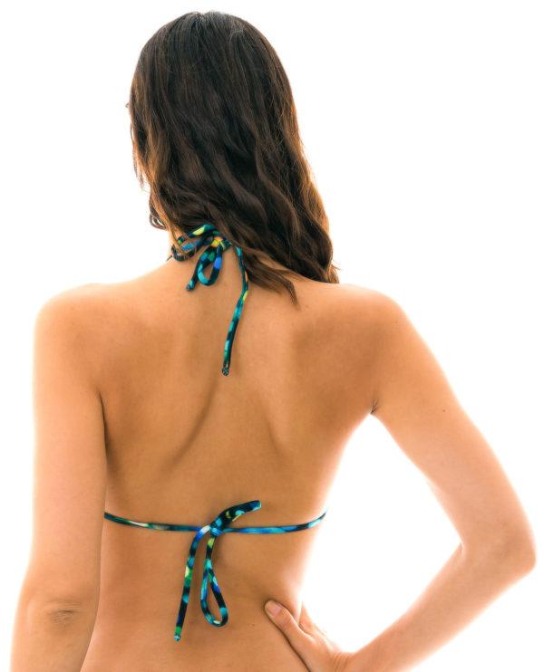 Bikinioberteil schwarz Triangel bunt bedruckt - Rio de Sol