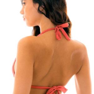 Sexy Triangel Top mit Faltenoptik, Braun, Verstellbar