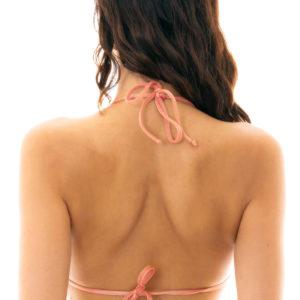 Triangel Bikinitop Pfirsichrosa glänzend