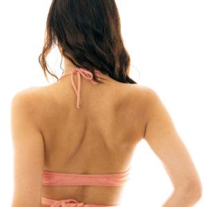 Pinkfarbenes Wickelbikini Oberteil - Sexy Bikinitop