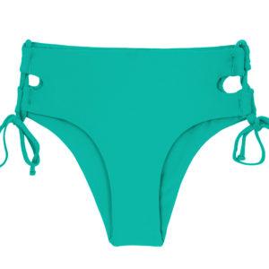 Maringrüne Bikinihose mit breiten Seiten