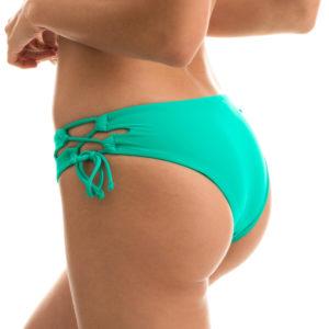 Grüne Bikinihose mit breiten Seiten - seitliche Schnüre