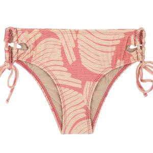 Rosa gemusterte Bikinihose mit breiten Seiten