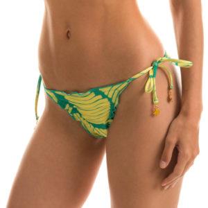 Sexy Scrunch Bikinihose, gewellter Rand, gemustert
