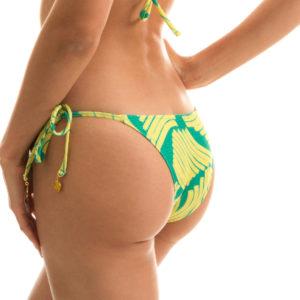 Grün gelbgemusterte Bikinihose Rio de Sol