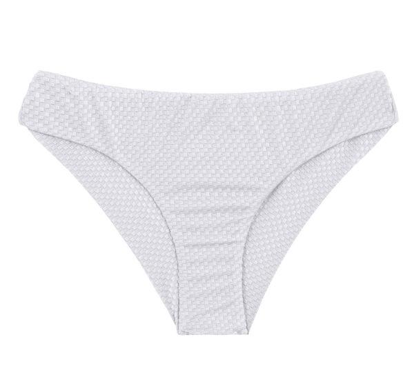Weiß-texturierte Scrunch Bikinihose