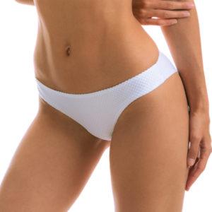 Weiß-texturierte Sexy Scrunch Bikinihose