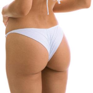 Weiß-texturierte knappe Sexy Bikinihose Rio de Sol