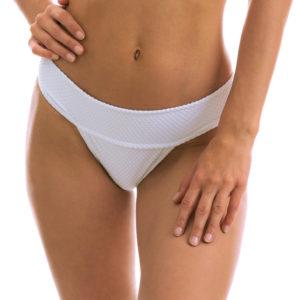 Weiße Sexy Bikinihose, mit breitem Bund