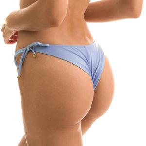 Denimblaue Sexy Scrunch Bikinihose - Bikinitrend