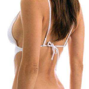 Brasilianischer Sexy Trikini weiß texturiert