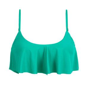 Maringrünes Bikinitop mit Volant - Top Bahamas Babado