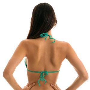 Maringrünes Bikini Top mit gewellten Rand -