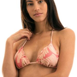 Rosa gemustertes Sexy Triangel Top