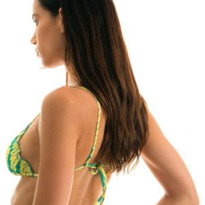 Grün gemustertes Sexy Triangel-Top