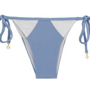 Gefütterte Bikinihose weiß Blau - Bottom Garoa White Tri