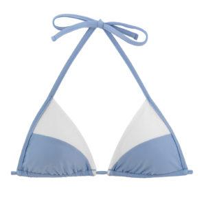 Bikini Triangel-Top, blau-weiß, gefüttert - Rio de Sol