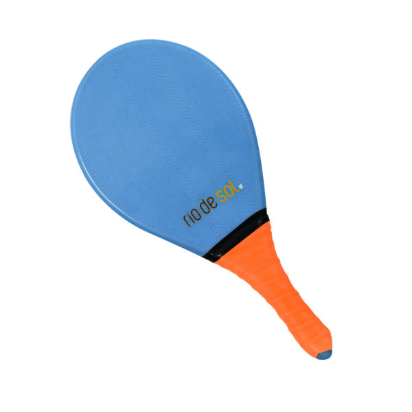 Blauer Frescobol Schläger, Griff Orange