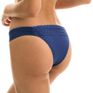 Blaue Sexy Bikinihose texturiert, Reliefeffekt