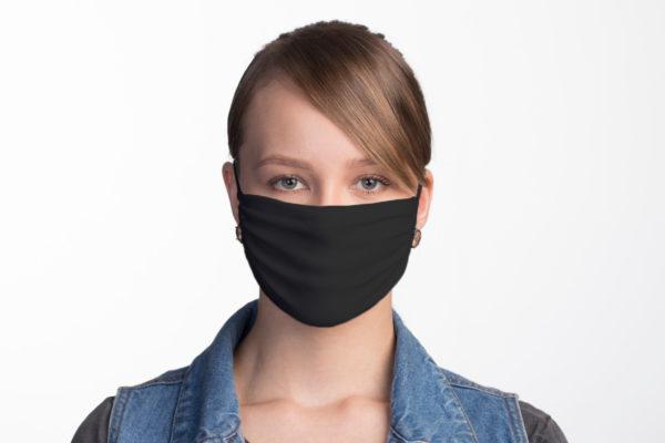Schwarze verstellbare Textil Atemschutzmaske