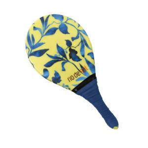 Frescobol Schläger gelb gemustert - Beach Bat Rds Lemon Flower