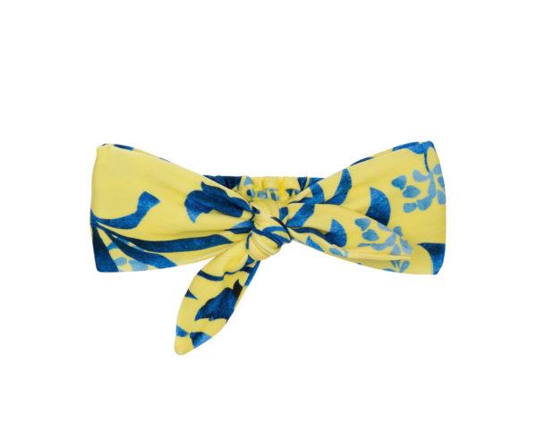 Gelb blauer Zopfgummi - Lemon Flower Knot Headband