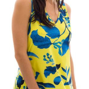 Gelb, blaues Strandkleid, Rio de Sol