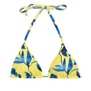 Triangel Top gelb-blau gemustert - Top Lemon Flower Invisible