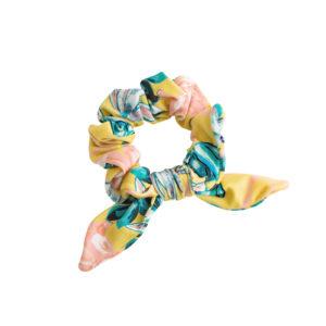 Gelb geblühmter Zopfgummi - Florescer Scrunchie
