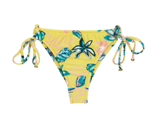 Scrunch Bikinihose Brasil Blumen- Bottom Florescer Babado Micro