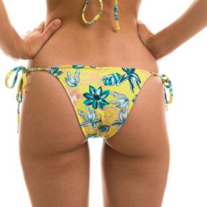 Sexy Bikinihose Brasil, gelb, Blumenmusterung