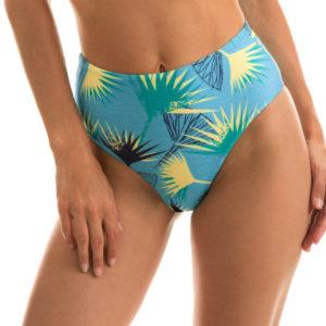 Hochtaillierte Bikinihose, hellblau gemustert - Rio de Sol