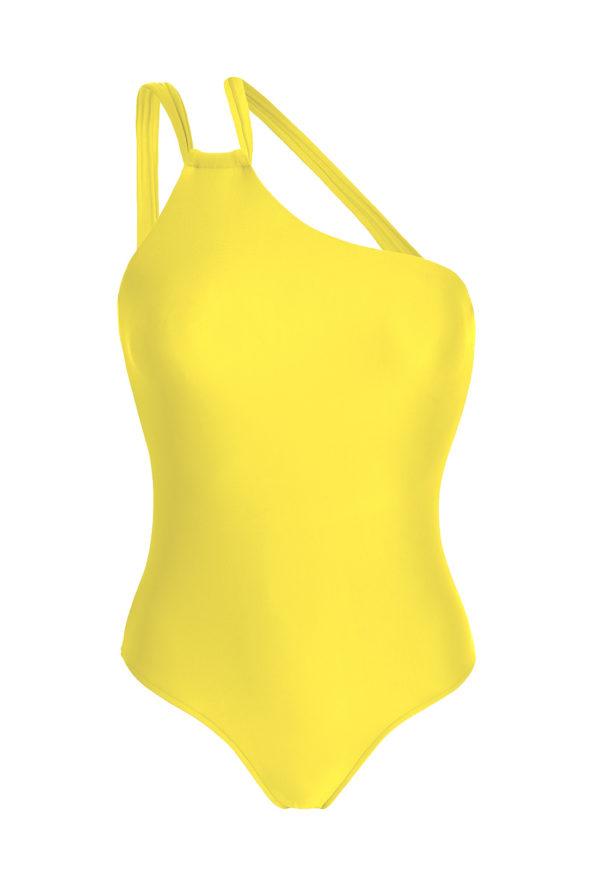 Gelber Badeanzug asymmetrisch - Strega One Shoulder