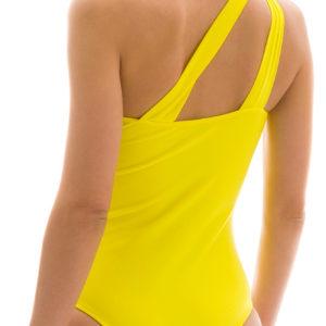 Gelber Badeanzug asymmetrisch - unwattiert