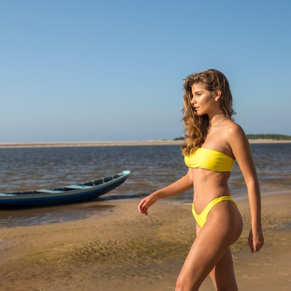 Brasil Bandeau Bikini zitronengelb, Sexy, Strega