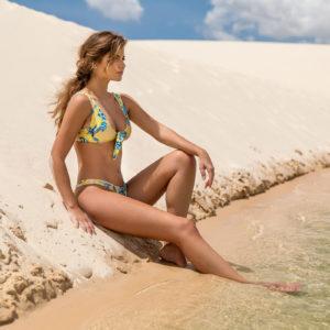 Florescer Bustier Bikini geblümt, Rio de Sol