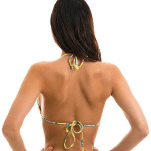Brasil Triangel Top Blumen - Sexy Bikinitop