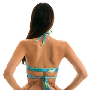 Bustier Bikinioberteil gemustert - Wickeloptik